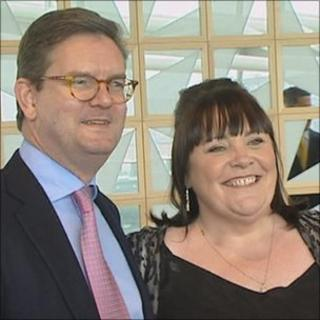 Mary Byrne and British ambassador Julian King