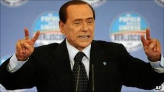 Silvio Berlusconi at campaign rally in Naples - 13 May 2011