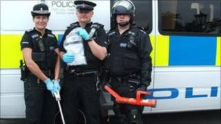 Farnham drugs raids officers