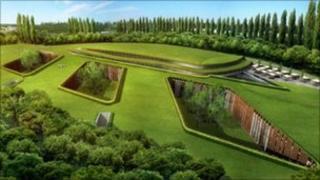 Artist's impression of Hersham Golf Club development