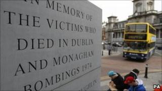 Dublin and Monaghan bombings memorial in Talbot Street in Dublin
