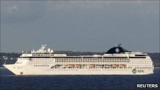 MSC Opera pictured west of Swedish island of Gotland on 15 May 2011