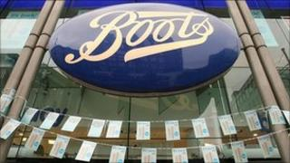 Boots logo over a store