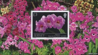 Jersey Orchid stamp