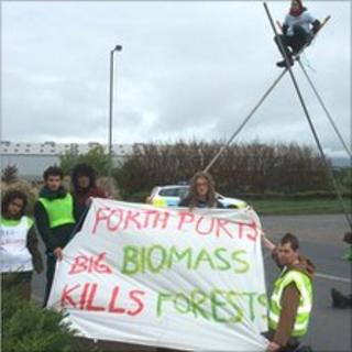 Biomass protesters