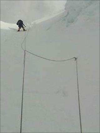 Simon Knighton on north ridge Mount Everest