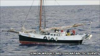 The Ex-Africa. Pic: Simon Wright, British Antarctic Survey.
