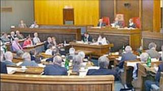 Gloucestershire County Council chamber