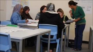 English lesson at the College of North West London
