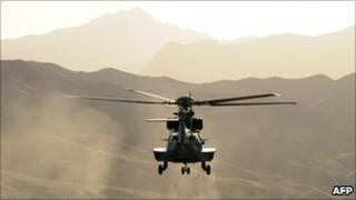 Nato helicopter in Afghanistan