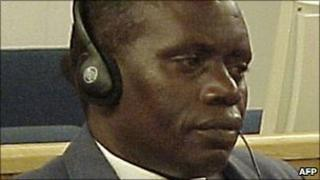 Rwanda's former army chief Augustin Bizimungu appearing before the UN-mandated tribunal in Arusha, file pic 2002