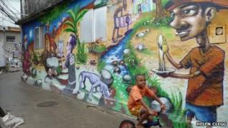 A mural in Rio de Janeiro