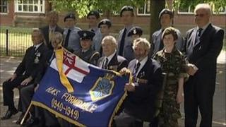 Veterans, pupils and teachers with standard