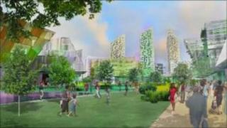 Artist impression of what Elephant and Castle will look like