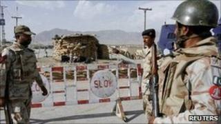 Pakistani paramilitary forces. File photo