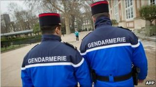 French police in Paris - file pic
