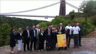 Olympic torch route through Bristol launched in front of Suspension Bridge