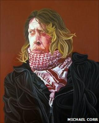 "Portrait of the ""Nirvana Busker"""