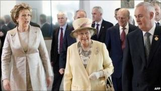President of Ireland Mary McAleese and Queen Elizabeth II