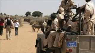 Sudanese government paramilitary force in Darfur. Nov 2007