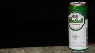 Can of Grolsch, a SAB Miller brand