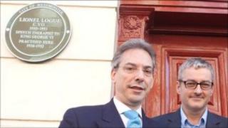 From left: Councillor Robert Davis and Mark Logue