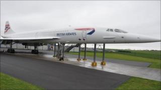 Concorde Alpha Foxtrot at Filton