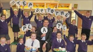 Glasgow school pupils