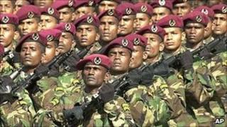 Sri Lankan army commandos