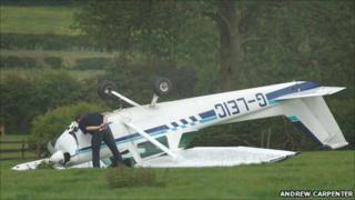 Plane crash near Kilby (courtesy Andrew Carpenter)