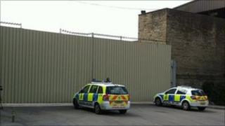 Police at Valley Road waste site