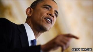 Barack Obama delivers a speech on Mideast and North Africa policy 19 May 2011