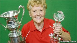 Betty Morgan with her latest trophies