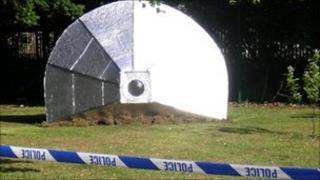 Alien spacecraft model at Scraptoft Valley Primary School in Leicester