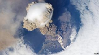 Sarychev Volcano seen from space