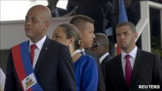 Haitian President Michel Martelly being inaugurated 14 May 2011