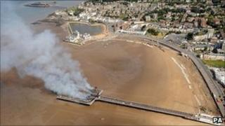 Weston-super-Mare Grand Pier fire 28 July 2008