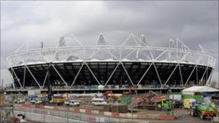 The Olympic Stadium at Stratford in east London