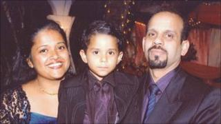 Jose Pereira and his family - Wiltshire Police