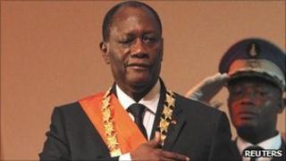 Alassane Ouattara is inaugurated