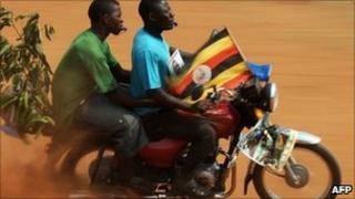 Supporters of Kizza Besigye - 16 February 2011