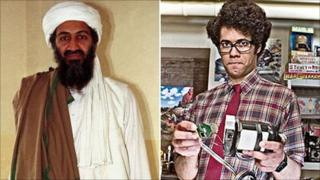 Bin Laden and a character from The IT Crowd
