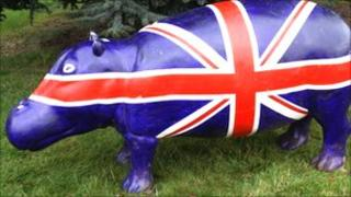 The Union Jack Hippo