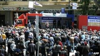 Anti-government protesters in Georgia, 23/05/2011