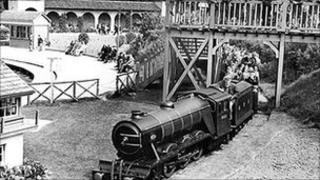 Old photograph of the North Bay Railway, Scarborough
