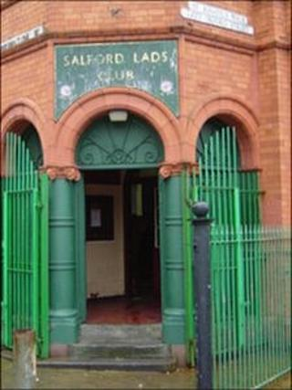 Entrance to Salford Lads' Club