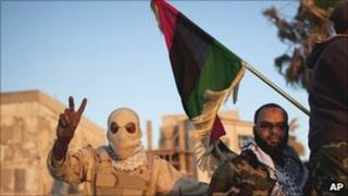 Rebel fighters in Benghazi, Libya