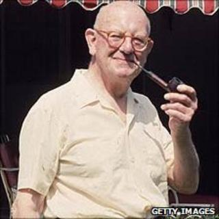 PG Wodehouse, pictured in 1968