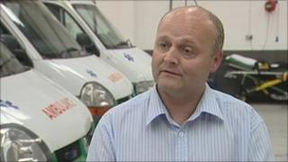 Geoff Clarke, the manager of Bristol Ambulance EMS