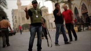 Rebel fighters in Benghazi - 23 May